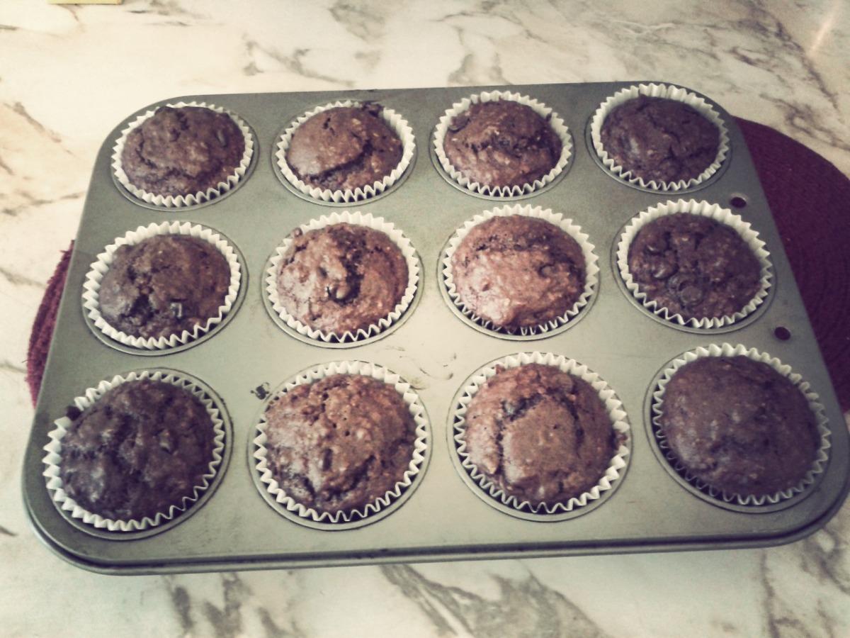 Muffins double chocolat végétaliens