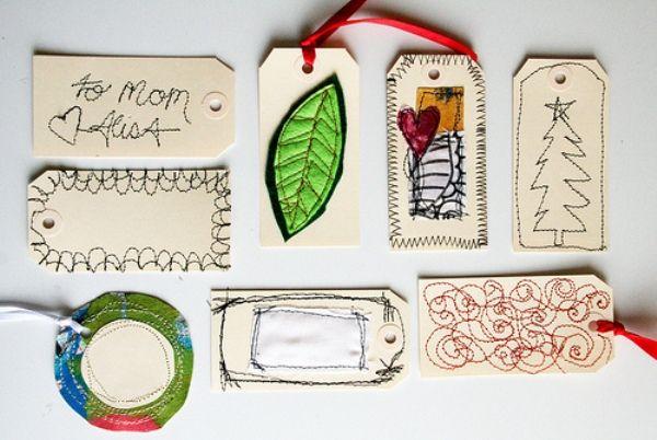 Pour étiqueter les cadeaux d'une manière plus personnelle. Source : Pinterest.