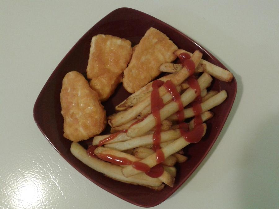 """J'en ai profité pour me faire un """"fish n' chips"""". ;)"""