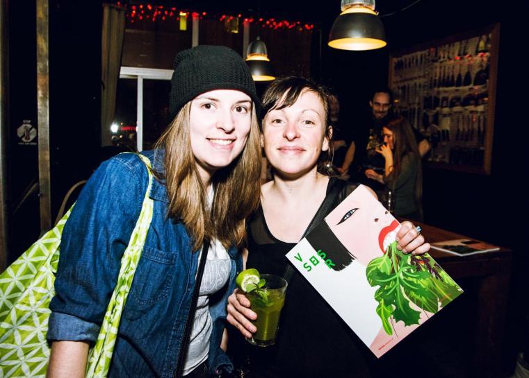 Mélissa de La Fontaine (à droite) et moi-même. Photo par Paméla Lajeunesse pour Nightlife.ca (http://bit.ly/1MpvzIZ)