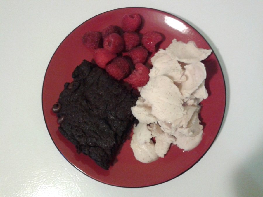 brownies-crème-glacée-vanille-amandes