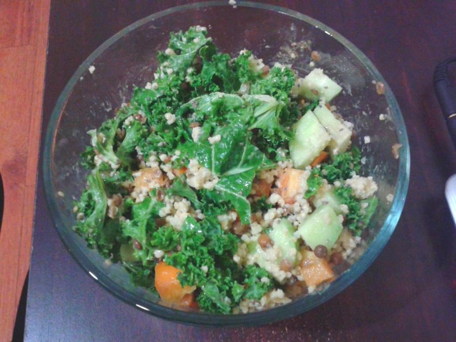 Salade de kale et de millet