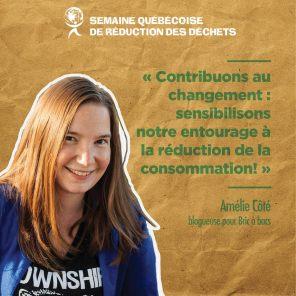 Amélie Côté, blogueuse pour Bric à bacs
