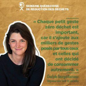 Charlotte Bourget-Rousseau, blogueuse sur Sortir les poubelle