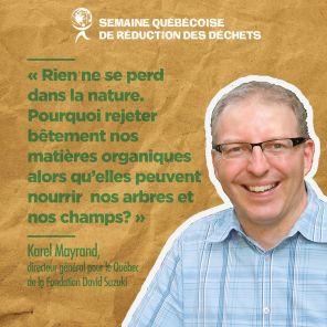 Karel Maynard, directeur général pour la Fondation David Suzuki (Québec)
