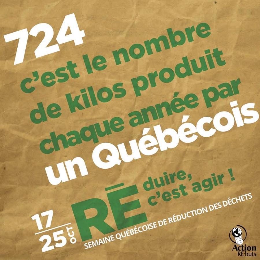 Semaine québécoise de réduction des déchets - statistique