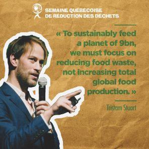 Tristam Stuart, auteur et conférencier sur le problème du gaspillage alimentaire